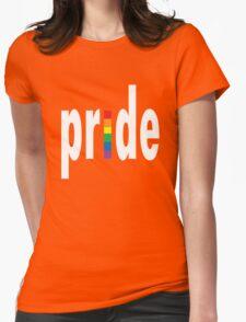 Gay pride dark tees men women geek funny nerd Womens Fitted T-Shirt