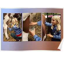 The girl and the cow - triptych 2 Poster