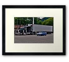 The Big and the Small Framed Print