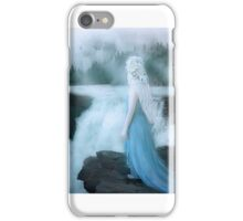 Elven girl at waterfall emotional iPhone Case/Skin