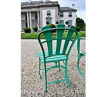 Green Chair, Big House Photographic Print