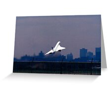 CONCORDE TAKING OFF Greeting Card