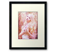 Fairy girl purple Framed Print