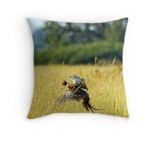 Hunters Delight  <> Pheasants Take Flight Throw Pillow