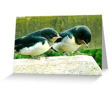 Swallows- #1 Greeting Card