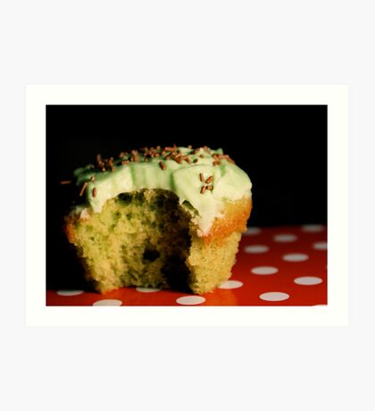 [eye candy] - Green Vanilla Cupcake Art Print