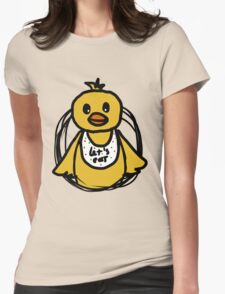 Fnaf Chibi Chica Womens Fitted T-Shirt