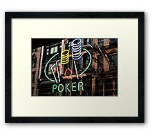 Poker Facade Framed Print