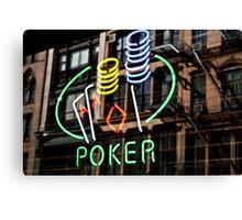 Poker Facade Canvas Print