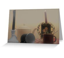 Coffee with solemnness and ligt memories Greeting Card