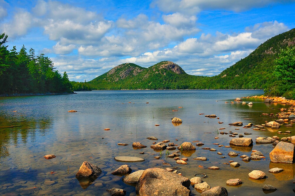Jordan Pond, Acadia National Park, Bar Harbor, Maine by fauselr