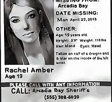 Rachel Amber's Wanted Poster by scolecite