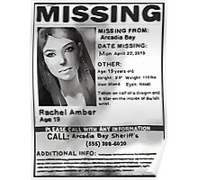 Rachel Amber's Wanted Poster Poster