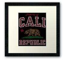 Vintage Property of Cali Republic Framed Print