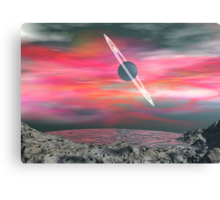 View from a dead Asteroid Canvas Print