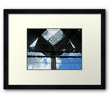 Amazing London - Urban geometries and reflections at the Docklands - (UK) Framed Print