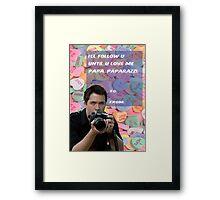 [Papa]Paparazzi Framed Print
