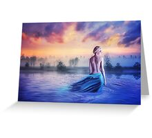 Girl in water sunset nymph Greeting Card
