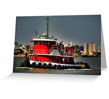 Tugboat  Greeting Card