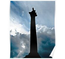 Nelsons Column Rising (with helicopter in weird flight) Poster