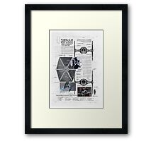 Twin Ion Engine (TIE) Fighter Framed Print