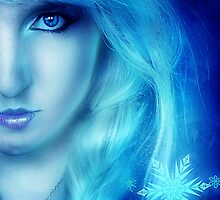 Winter girl ice queen Frozen by Liancary