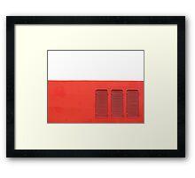 red vents Framed Print