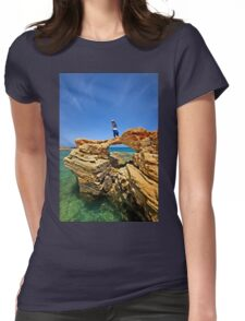 Rocky bridge to the Cretan sea Womens Fitted T-Shirt