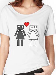 Lady bots in love geek funny nerd Women's Relaxed Fit T-Shirt