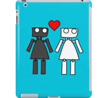 Lady bots in love geek funny nerd iPad Case/Skin