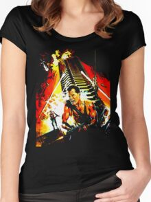 Exterior : Nakatomi Plaza Women's Fitted Scoop T-Shirt