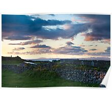 Evening sky on Inishmore Poster
