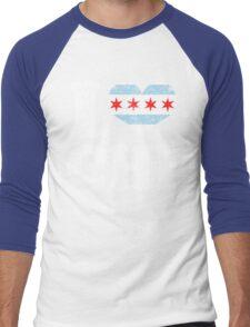 I Heart CHI Chicago Flag Men's Baseball ¾ T-Shirt