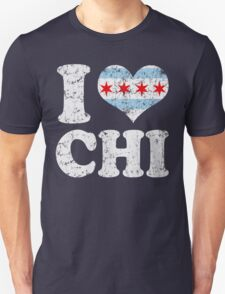 I Heart CHI Chicago Flag T-Shirt