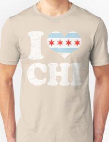 I Heart CHI Chicago Flag T-Shirt
