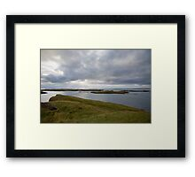 Looking out to sea at Stykkishólmur Framed Print