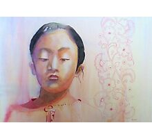 Thinking, watercolor on paper Photographic Print