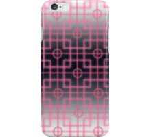 pink squares on a black and white background iPhone Case/Skin