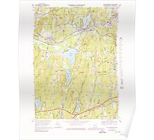 Massachusetts  USGS Historical Topo Map MA East Brookfield 350922 1969 25000 Poster