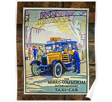 Vintage Taxi Sign Poster