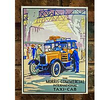 Vintage Taxi Sign Photographic Print