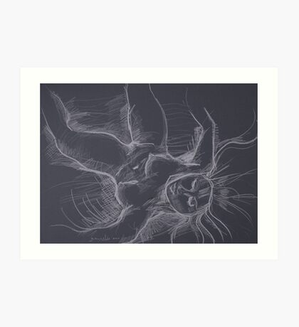Falling Goddess Art Print