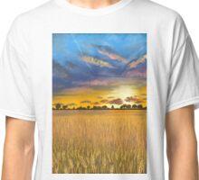 Ukranian sunset beautiful landscape Classic T-Shirt