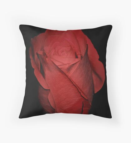 The Perfect Red Rose Throw Pillow