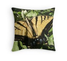 Yellow Butterfly- Look at Me!! Throw Pillow