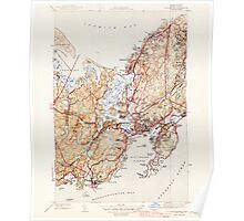 Massachusetts  USGS Historical Topo Map MA Gloucester 351727 1945 31680 Poster