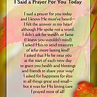 I Said a Prayer For You Today - Inspirational by vigor