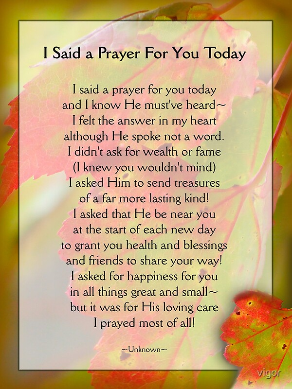 Clever image throughout i said a prayer for you today printable