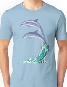Dolphins Jumping Unisex T-Shirt