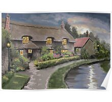 Thatched Cottage in Thornton-Le -Dale Poster
